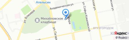 Божья коровка на карте Екатеринбурга