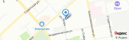 Элегант на карте Екатеринбурга