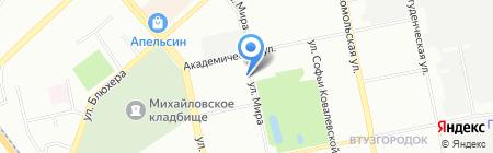 Кристалл на карте Екатеринбурга