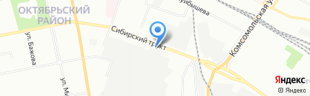Эвита на карте Екатеринбурга