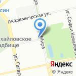Преображение на карте Екатеринбурга
