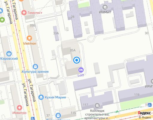 Товарищество собственников жилья «Гагарина, 35 А» на карте Екатеринбурга