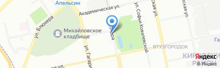 Уральская вертолетная компания на карте Екатеринбурга