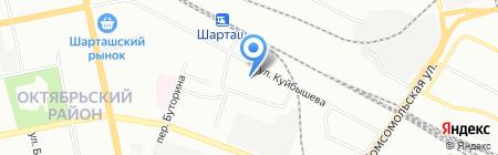 Раз Два-Тур на карте Екатеринбурга