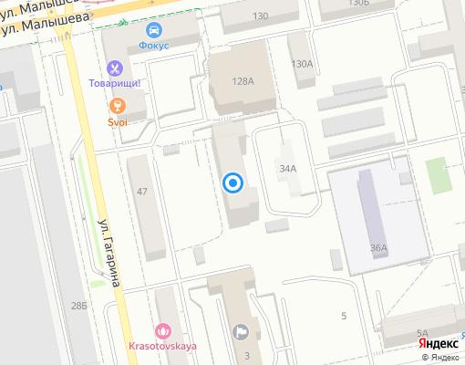 Товарищество собственников жилья «Профессорский» на карте Екатеринбурга