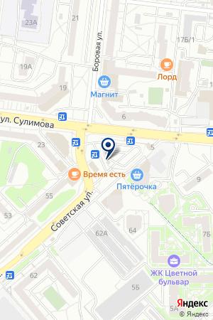 Шиномонтажная мастерская на ул. Сулимова на карте Екатеринбурга