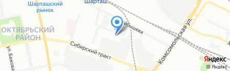 Детский сад №63 Непоседы на карте Екатеринбурга