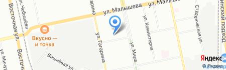 На задворках на карте Екатеринбурга