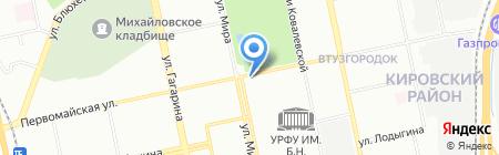 Ангел на карте Екатеринбурга