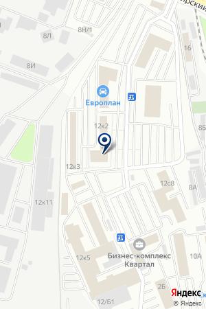 Фабрика Евромебель на карте Екатеринбурга