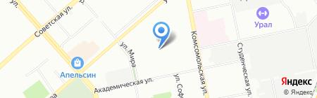 Детская хоровая школа №1 на карте Екатеринбурга