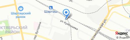 Нимфа на карте Екатеринбурга