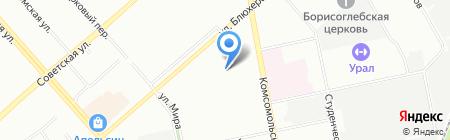 Вентмонтаж на карте Екатеринбурга