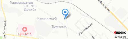 ГРС Урал на карте Екатеринбурга
