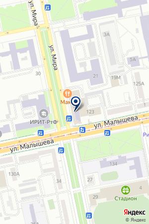 Уральский центр энергосбережения и экологии на карте Екатеринбурга