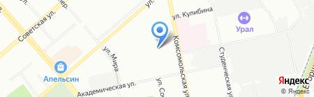 Хрустальный на карте Екатеринбурга