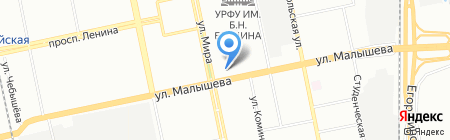 Мельник на карте Екатеринбурга