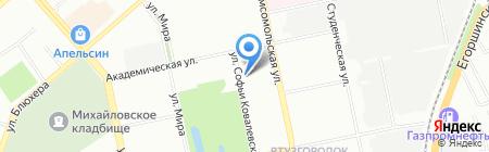Институт промышленной экологии УрО РАН на карте Екатеринбурга