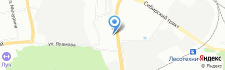 АМК-Екатеринбург на карте Екатеринбурга