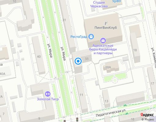 Товарищество собственников жилья «Мирный» на карте Екатеринбурга
