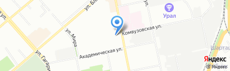 Виброэласт на карте Екатеринбурга