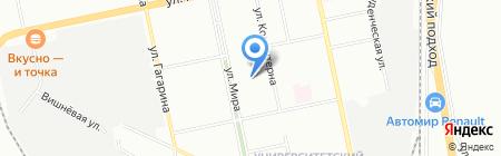 Унивита на карте Екатеринбурга