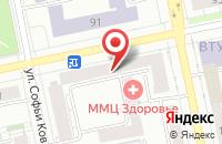 Схема проезда до компании Унихим-Проект в Екатеринбурге