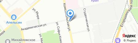 Капитан на карте Екатеринбурга