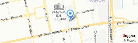 СТЭП на карте Екатеринбурга