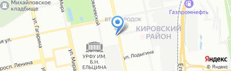 Линия защиты на карте Екатеринбурга