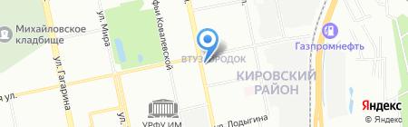 Белая Ладья на карте Екатеринбурга