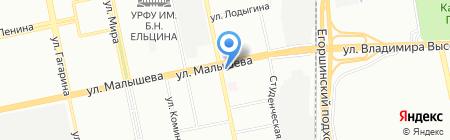 Пекарушка на карте Екатеринбурга