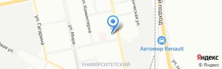 Средняя общеобразовательная школа №134 на карте Екатеринбурга
