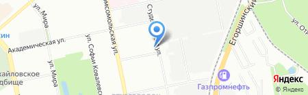 ЭКА на карте Екатеринбурга