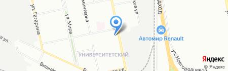 Дива на карте Екатеринбурга