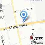 Каллисто на карте Екатеринбурга