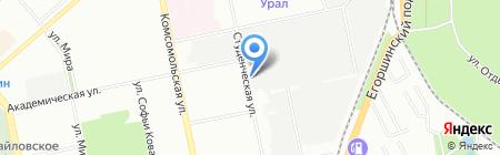 Уральский электромеханический завод на карте Екатеринбурга