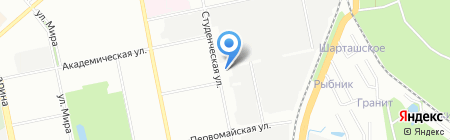 Декор-Сити Урал на карте Екатеринбурга