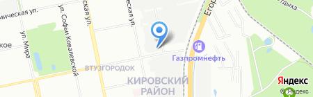 АВЭК на карте Екатеринбурга