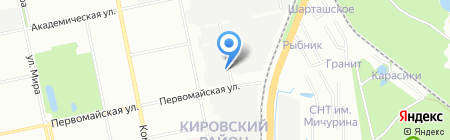 АКЕ на карте Екатеринбурга