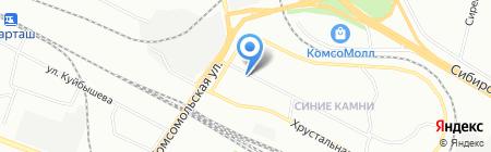 Каменный цветок на карте Екатеринбурга