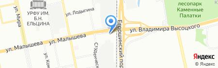 М1Спорт на карте Екатеринбурга