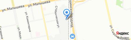 Изумруд на карте Екатеринбурга