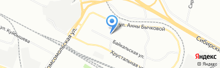 Отрада на карте Екатеринбурга