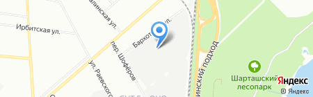 Автоцентр на карте Екатеринбурга