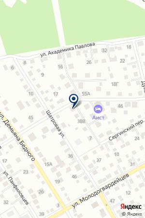 Сауна вГК Аист на карте Екатеринбурга