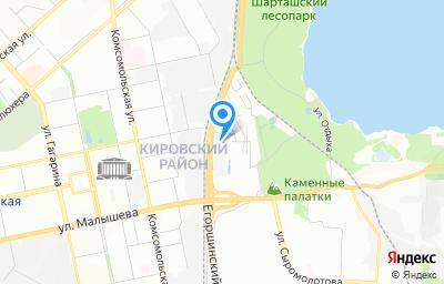 Местоположение на карте пункта техосмотра по адресу г Екатеринбург, ул Владимира Высоцкого, стр 1