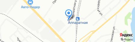 Профстрой на карте Екатеринбурга