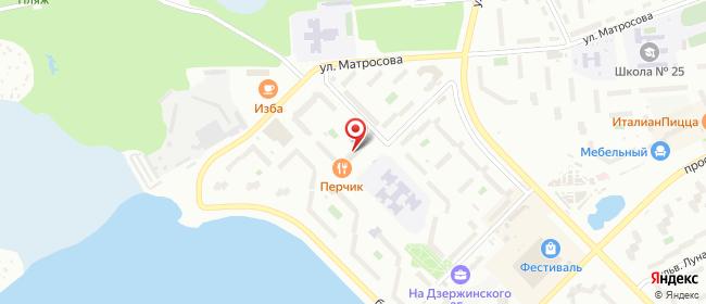 Карта расположения пункта доставки Озерск Гайдара в городе Озерск