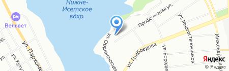 Орматек на карте Екатеринбурга